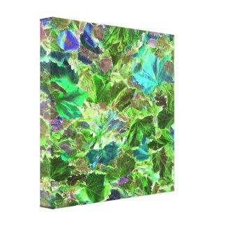 Toile Le beau vert abstrait laisse le feuillage