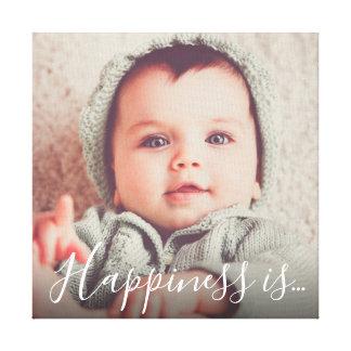 Toile Le bonheur personnalisé de la photo de famille |
