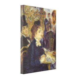 Toile Le café par Pierre Renoir, impressionisme vintage