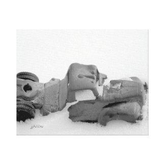 """Toile Le """"camion jjhelene dans neige"""" a enveloppé la"""
