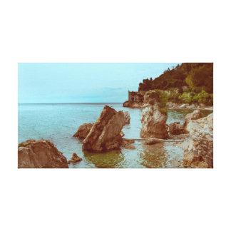 Toile Le château sur la mer et les roches