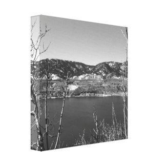 Toile Le Colorado noir et blanc
