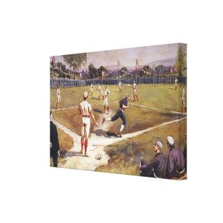 Toile Le cru folâtre le jeu de baseball par Henry