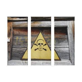 Toile Le danger vintage se connectent le bois rustique