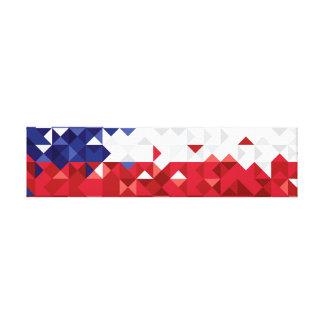 Toile Le drapeau du Chili, Chilien simple colore la