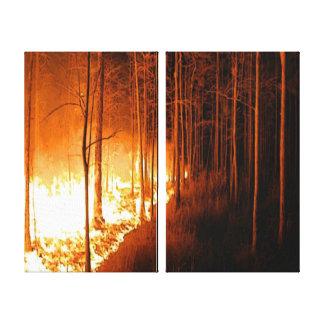 Toile Le feu de forêt