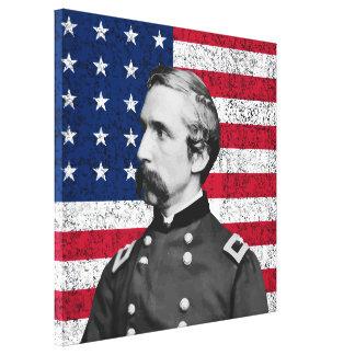 Toile Le Général Chamberlain et le drapeau américain