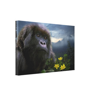 Toile Le gorille de montagne mis en danger a appelé