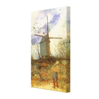 Toile Le Moulin Galette par Vincent van Gogh, moulins à
