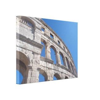 Toile Le mur en pierre ruine la photographie de la