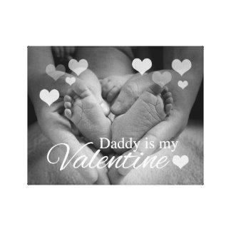 Toile Le papa est mon Valentine
