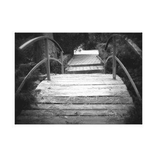 Toile Le pont noir et blanc
