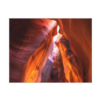 Toile Le soleil et roches du rouge | de la photographie