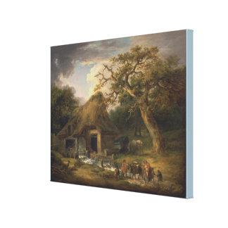 Toile Le vieux moulin à eau par George Morland