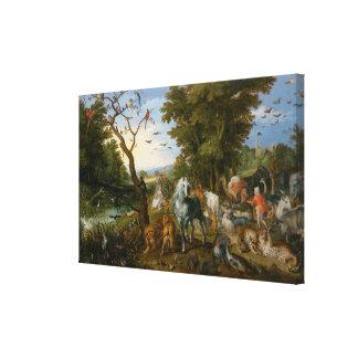 Toile L'entrée des animaux dans l'arche de Noé