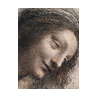Toile Leonardo da Vinci la tête de la Vierge