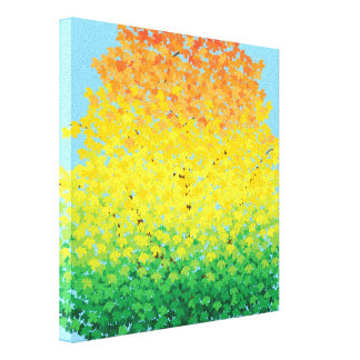 Toile L'érable coloré de feuillage d'automne part du