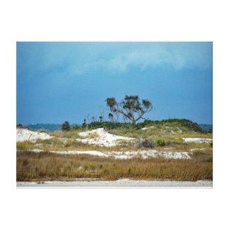 Toile Les dunes de approche de tempête s'approchent de