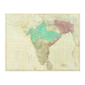 Toile Les Indes est avec les routes par Thomas Jefferys