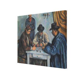 Toile Les joueurs de carte