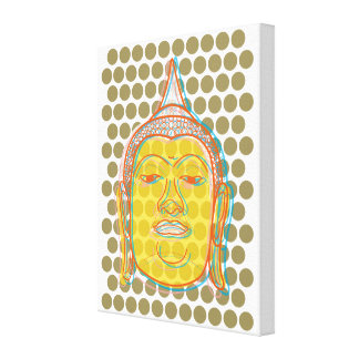 Toile Les points modernes de bruit de zen de Bouddha ont