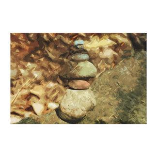 Toile Les roches de équilibrage soustraient