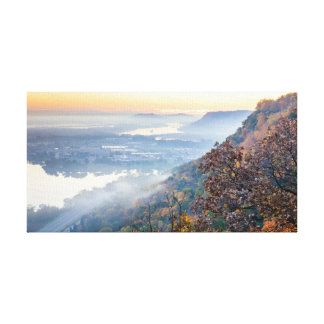 """Toile Lever de soleil 15.5x8 .75"""" d'automne de Winona"""