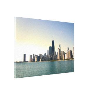 Toile Lever de soleil au-dessus de Chicago