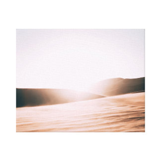Toile Lever de soleil dans le désert