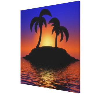 Toile Lever de soleil de palmier