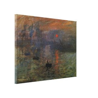 Toile Lever de soleil d'impression par Claude Monet, art