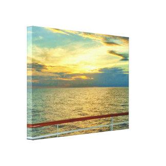 Toile Lever de soleil marin