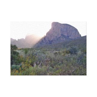 Toile Lever de soleil sur le Chisos, parc national de