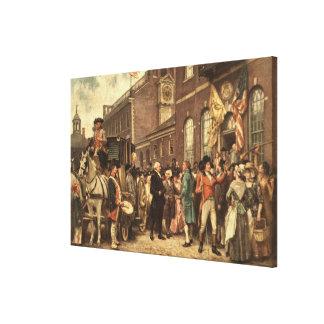 Toile L'inauguration de Washington à Philadelphie