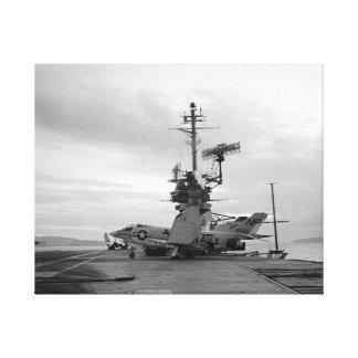 Toile Lion de noir de combattant de démon d'USS Hancock