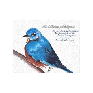 Toile L'oiseau bleu pour le bonheur