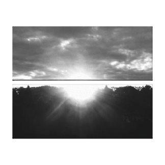 Toile Lumière de monochrome de lever de soleil d'espoir