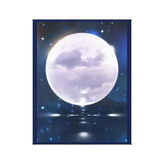 Toile Lune orageuse