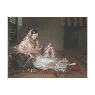 Toile Madame musulmane Reclining By Francesco Renaldi