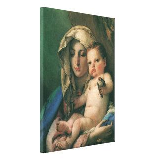 Toile Madonna du chardonneret par Tiepolo, art vintage
