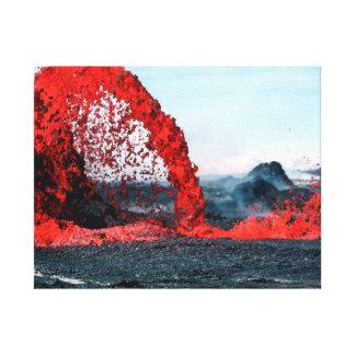 Toile Magma du volcan | de la photographie | de nature