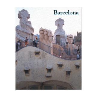 Toile Maison Mila de Barcelone par Antoni Gaudi