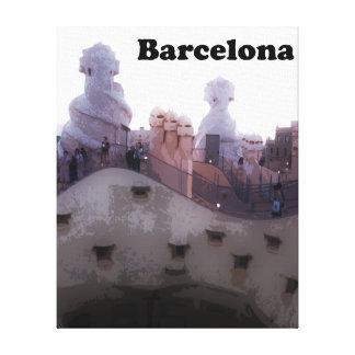 """Toile Maison Milà """"La Pedrera"""" Barcelone de Gaudi"""
