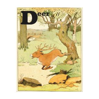 Toile Mâle de cerf de Virginie dans l'alphabet de forêt