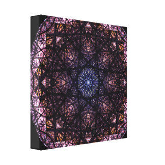 Toile Mandala de couleurs foncées