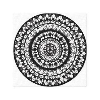 Toile Mandala floral