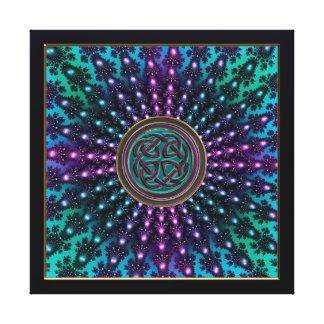 Toile Mandala rayonnant frais de fractale de Celtic