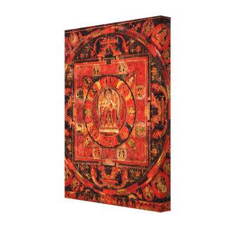 Toile Mandala Thangka d'Amogapasha