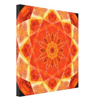 Toile Mandala vibrant d'étoile