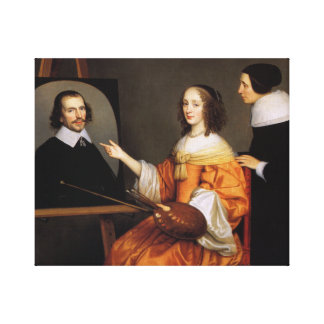 Toile Margareta Maria de Roodere et ses parents
